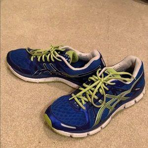 Asics Gel-Neo 33 Blue Green Running Shoes.